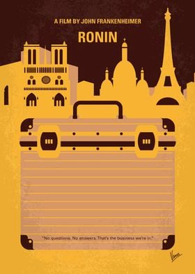 No801 My RONIN minimal movie poster A freelancing form ...