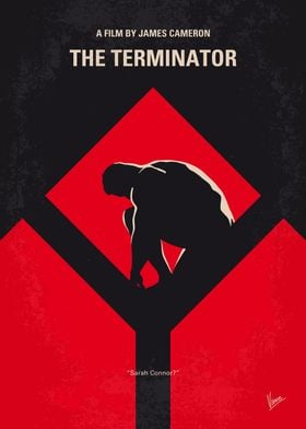No802-1 My The Terminator 1 minimal movie poster A see ...