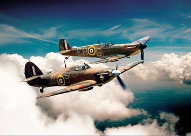 Spitfire and Hurricane of the Battle of Britain Memoria ...