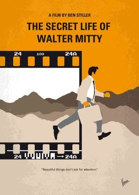 No806 My The Secret Life of Walter Mitty minimal movie  ...