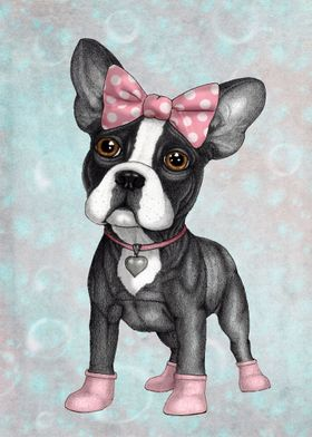 """""""Sweet Frenchie"""" illustration by Barruf."""