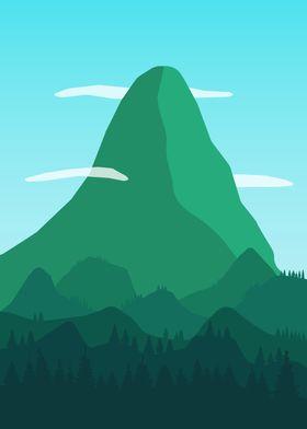 Lush mountain