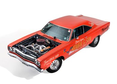 Plymouth Roadrunner, studio. Image also available in p ...