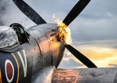 Spitfire TE311 of the RAF Battle of Britain Memorial Fl ...