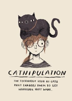 An exclusive catnipulation cat print. great for those c ...