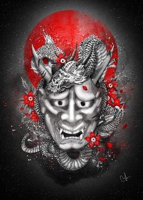 Hannya dragon mask