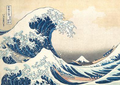 Hokusai - The Great Wave, ca. 1830–32, polychrome woodb ...