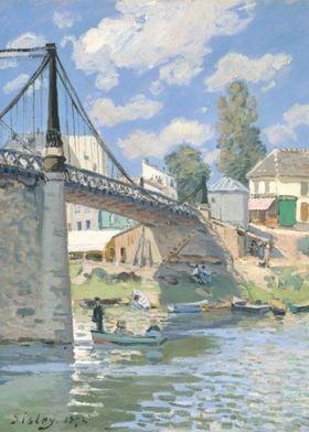 Alfred Sisley - The Bridge at Villeneuve-la-Garenne, 18 ...