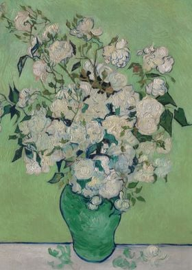 Vincent van Gogh - Roses, 1890, oil on canvas; Collecti ...