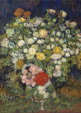 Vincent van Gogh - Bouquet of Flowers in a Vase, 1890,  ...
