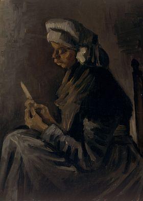 Vincent van Gogh - The Potato Peeler, 1885, oil on canv ...