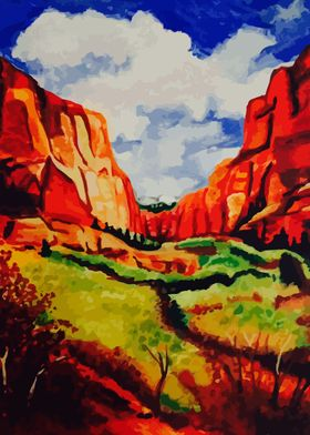 Colorful Mountains of Sedona Arizona.