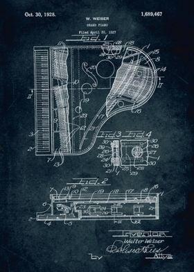 No004 - 1927 - Grand Piano - Inventor Walter Weiser
