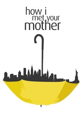 How I met your mother - Minimalist poster representativ ...