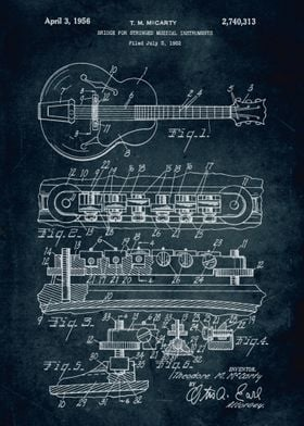No001. - 1952 - Bridge for stringed musical instruments ...