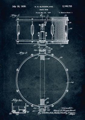 No011 - 1937 - Snare drum - Inventor Henry H. Slingerla ...