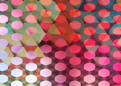 This colorful and very modern geometric design features ...