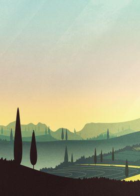 Tuscany Fairytale | Digital Art