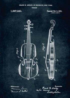No039 - 1921 - Violin - Inventor Frank M. Ashley