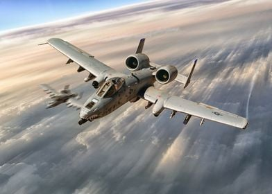 A10 Thunderbolt II's tear above the clouds