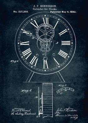 No089 - 1880 - Calendar for clocks - Inventor J. F. Hen ...