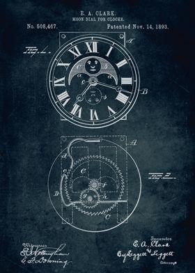 No088 - 1893 - Moon dial for clocks - Inventor E. A. Cl ...