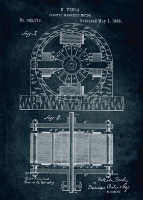 No076 - 1888 - Electro magnetic motor - Inventor Nikola ...