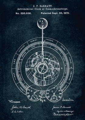 No087 - 1879 - Astronomical clock or cosmochronotrope - ...