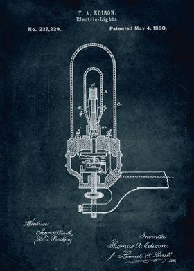 No094 - 1880 - Electric Light - Inventor Thomas A. Edis ...