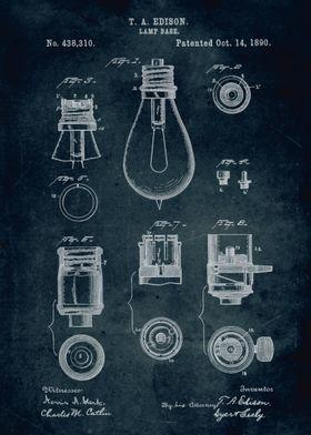 No093 - 1890 - Lamp base - Inventor Thomas A. Edison