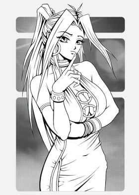 Black and white manga fema