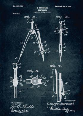 No095 - 1900 - Compasses - Inventor G. Oberbeck