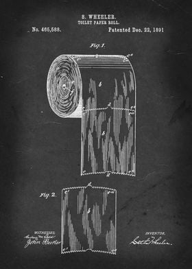 Toilet Paper Roll - Patent #465,588 by S. Wheeler - 189 ...