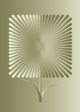 The abstract image of a square-shaped flower