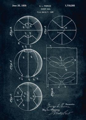No106 - 1928 - Basket ball - Inventor G. L. Pierce