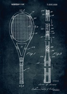 No103 - 1972 - Racket - Inventor Jogn G. Howe