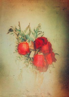 Vintage artistic roses photograph