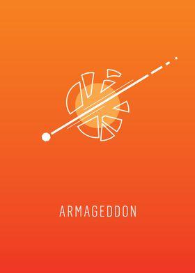 Armageddon - minimalist movie poster