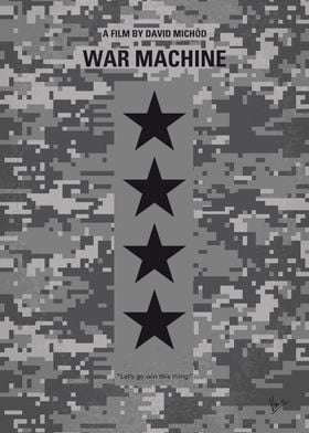 No817 My War Machine minimal movie poster A successful ...