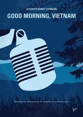 No811 My Good Morning Vietnam minimal movie poster In ...