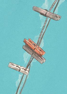 Boho Clothespins | Digital Painting
