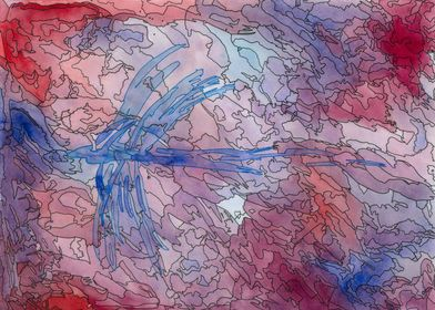 ~Abstract Dragonfly~ The inaugural Linescape. Hang a pi ...