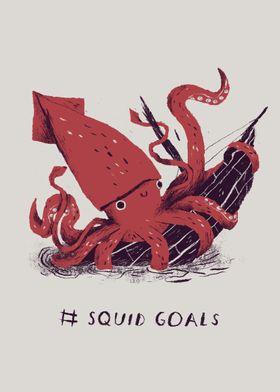 # squid goals!