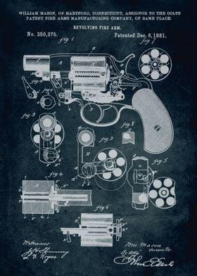 No129 - 1881 - Revolving fire arm (Colts patent) - Inve ...