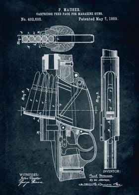 No141 - 1889 - Cartridge feed pack for magazine guns -  ...