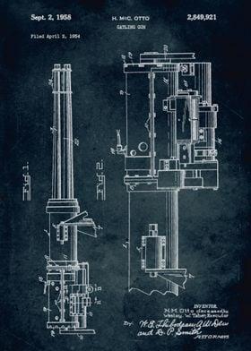 No154 - 1954 - Gatling gun - Inventor H. McC. Otto