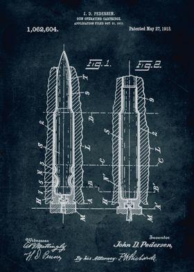 No157 - 1911 - Gun operating cartridge - Inventor J. D. ...