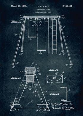 No168 - 1937 - Playground swing - Inventor E. M. Burke