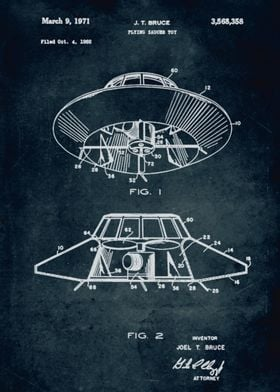 No162 - 1968 - Flying saucer toy - Inventor J. T. Bruce ...