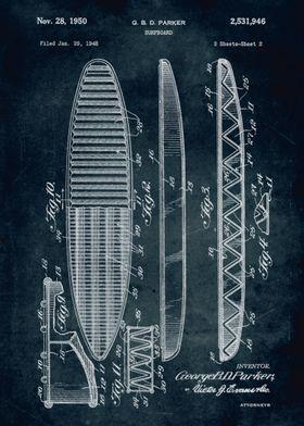 No172 - 1948 - Surfboard - Inventor G. B. D. Parker